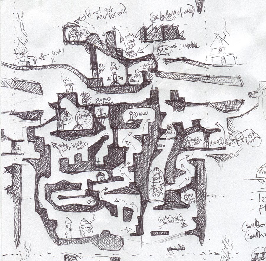 quick look at a level design process pencil drawn games - Game Design Ideas